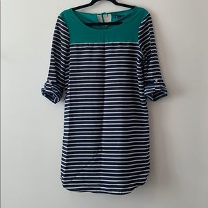 Gap striped shift dress size small